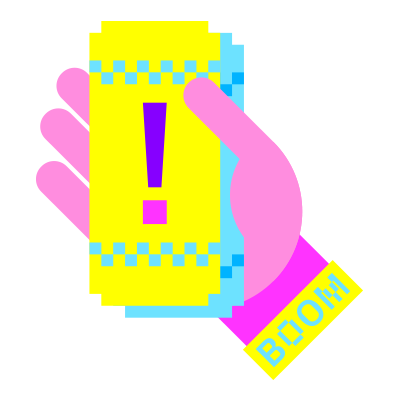 Ticket and wristband icon
